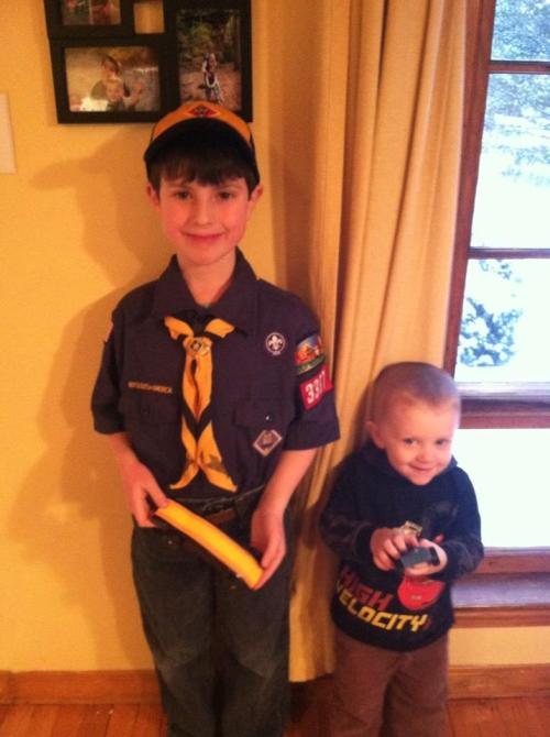 Nathan Jan 2013 off to pinewood derby