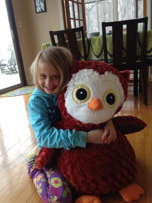 Sofia March 2016 owl from Alice for Easter
