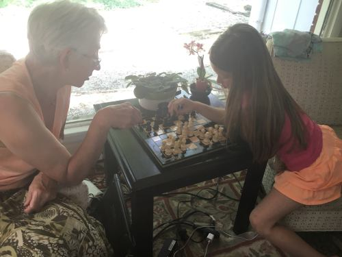 Clara june 2016 chess with oma