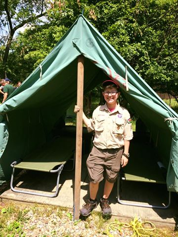 Nathan june 2016 boy scout camp Christopher