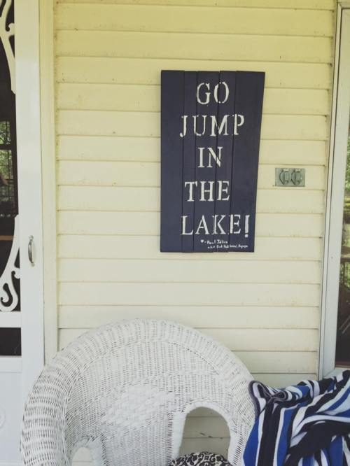 Alice july 2016 her jump in the lake sign