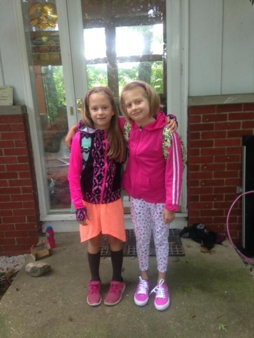 Sofia august 2016 first day of 2nd and third grade