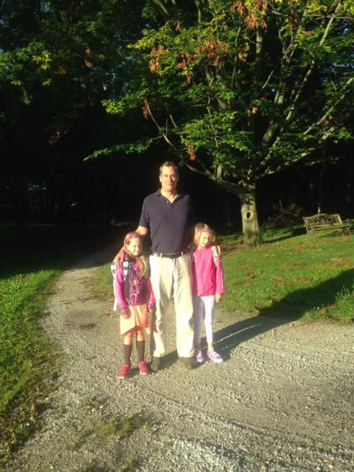 Sofia august 2016 with ingmar and clara first day of school 2nd and 3rd grade