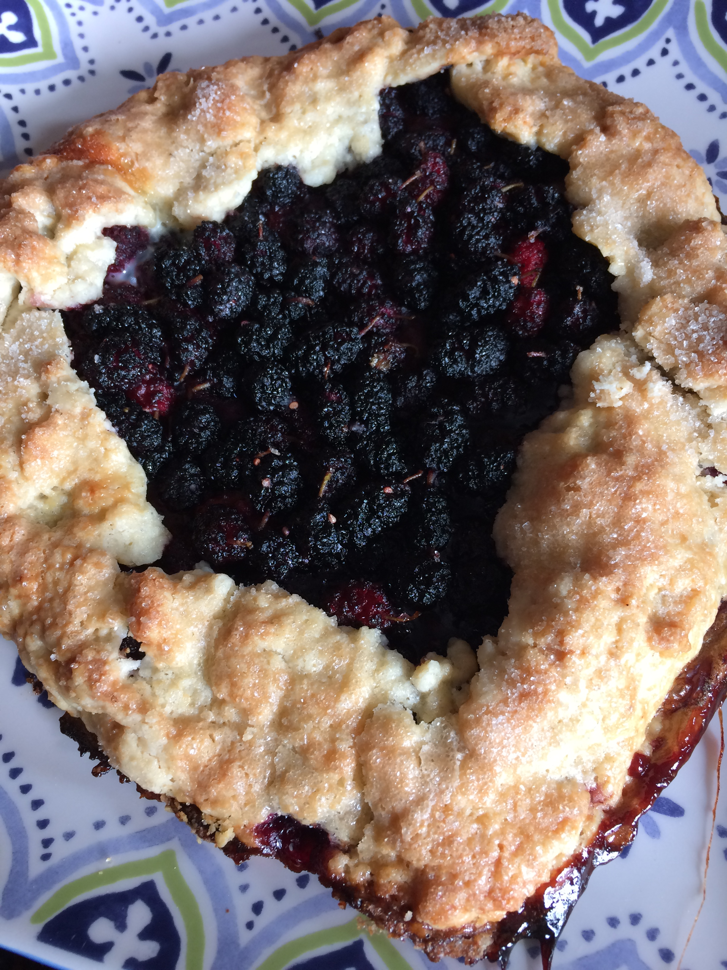 Alice june 2017 mulberry pie 5 clafouti.JPG