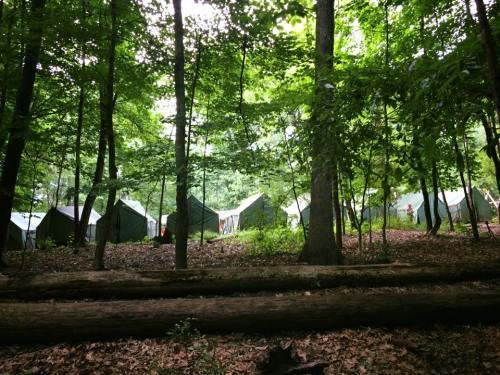 nathan june 2017 scout camp troop campsite at camp manatoc