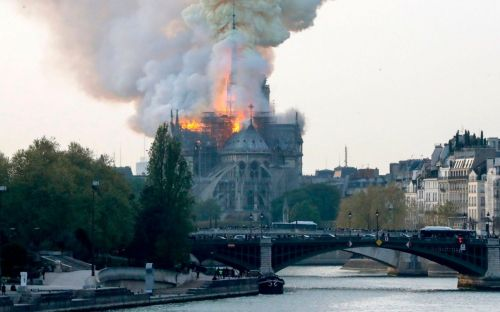 Notre Dame Paris on Fire april 2019