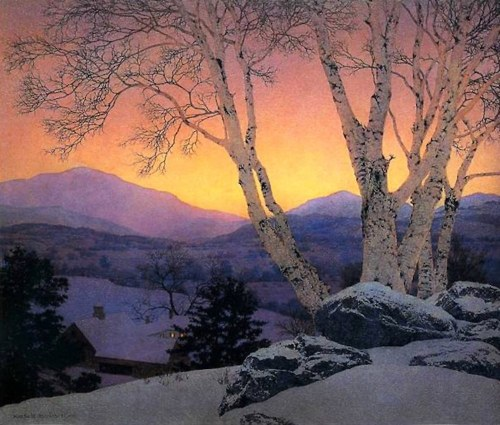 art maxfield parrish christmas morning 1946